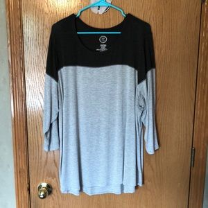 Maurices Color-blocked Stripped Shirt